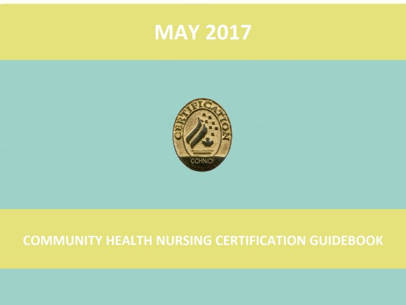 Community Health Nursing Certification Guidebook